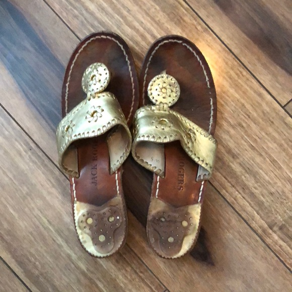 22cf4528d4f5 Jack Rogers Shoes - Hamptons Metallic Leather Whipstitched Sandals
